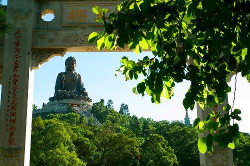 Buddha, Lantau Island, Hong Kong.