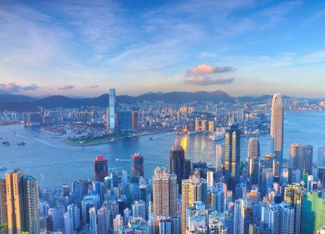 Výhled na Hong Kong
