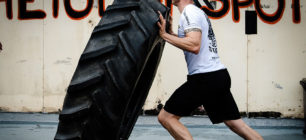 Tyre Flipping Crossfit Hardcore Training