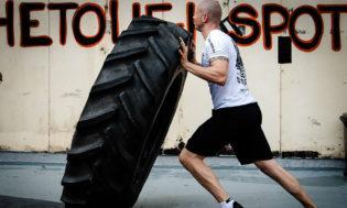 Tyre Flipping Crossfit Hardcore Training