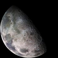 Moon - North Polar Mosaic, Color